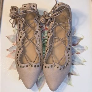 Charlotte Russe lace up flats